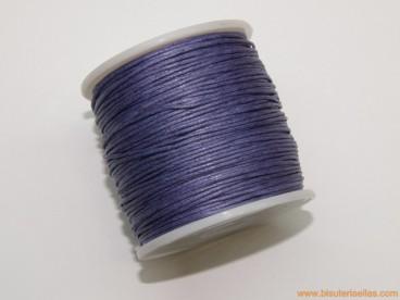 Cordón encerado 1mm morado (70 m.)