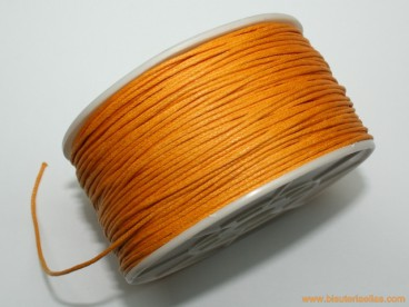 Cordón encerado 1mm mostaza