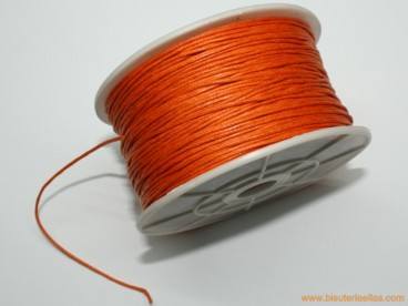 Cordón encerado 1mm naranja (100 m.)