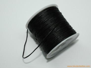 Cordón encerado 1mm negro (20 m.)