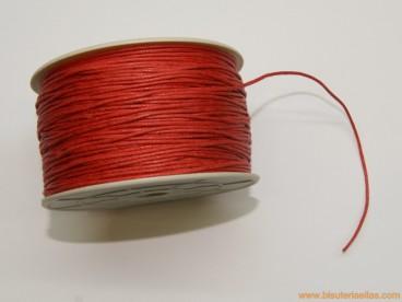 Cordón encerado 1mm rojo (100 m.)