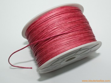 Cordón encerado 1mm rosa