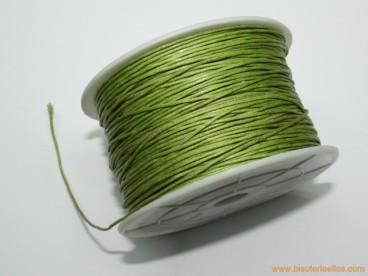 Cordón encerado 1mm verde claro