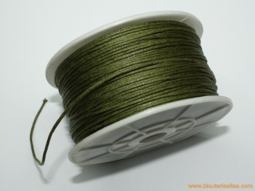 Cordón encerado 1mm verde oliva (100 m.)