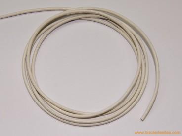 Cordón cuero 2mm blanco