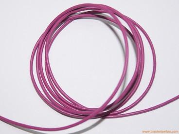 Cordón cuero 2mm fucsia