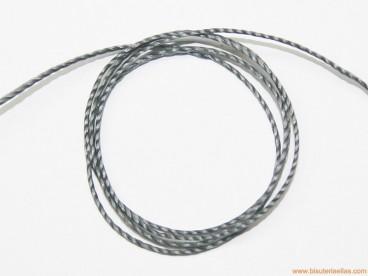 Hilo macramé 1mm gris oscuro