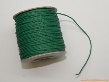 Cordón de poliester 1,5mm verde