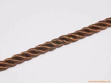 Cordón de poliester 8mm marrón chocolate