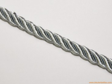 Cordón de poliester 8mm plata