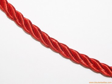 Cordón de poliester 8mm rojo