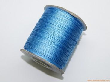 Cordón trenzado rayón 0,8mm azul claro