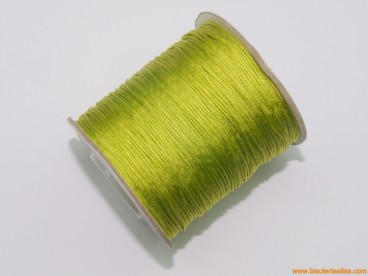 Cordón trenzado rayón 0,8mm verde oliva
