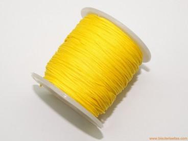 Cordón trenzado rayón 1mm amarillo