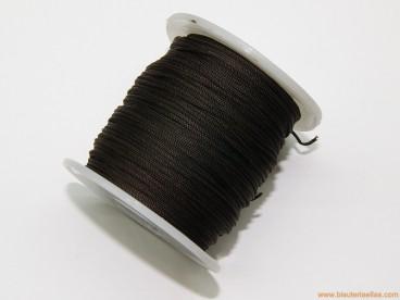 Cordón trenzado rayón 1mm chocolate