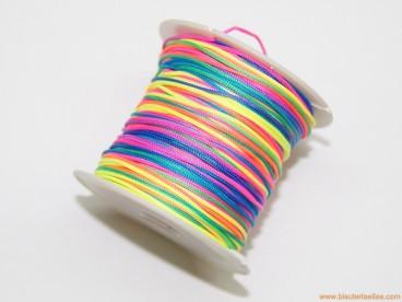 Cordón trenzado rayón 1mm multicolor