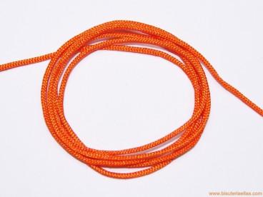 Cordón trenzado rayón 1,5mm naranja