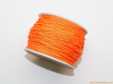 Cordón trenzado rayón 1,5mm naranja (rollo)