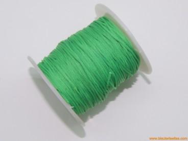 Cordón trenzado rayón 1,5mm verde