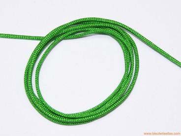 Cordón trenzado rayón 1,5mm verde claro