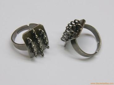 8e3b0c2c99ad Base anillo multianillas plata envejecida