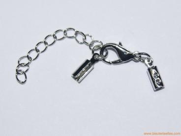 Juego terminal redondo 2mm, mosquetón y cadena