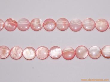 Disco nácar rosa pálido 13mm