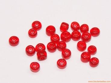 Rocalla 6/0 Rojo Transparente