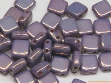 Tila checa 6mm púrpura cerámico