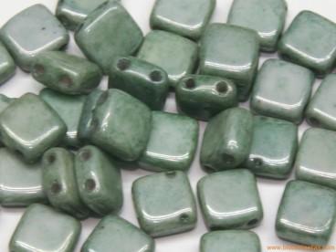 Tila checa 6mm verde cerámico