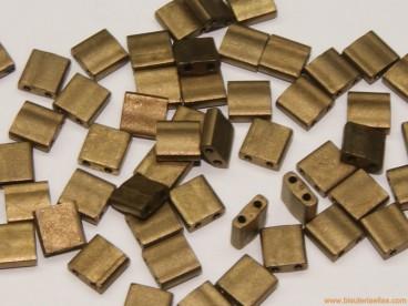 Tila Miyuki 5mm oro viejo metálico